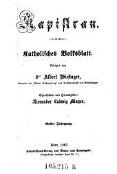 Kapistran: katholisches Volksblatt, Band 1