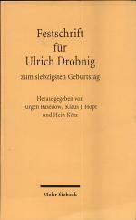 Festschrift für Ulrich Drobnig zum siebzigsten Geburtstag