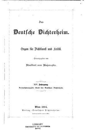 Deutsches Dichterheim PDF