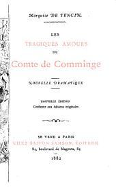 Les tragiques amours du Comte de Comminge: nouvelle dramatique