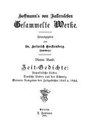 Hoffmann's von Fallersleben gesammelte werke: Band 4