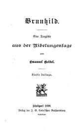 Brunhild: eine Tragödie aus der Nibelungensage