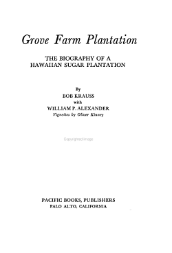 Grove Farm Plantation PDF