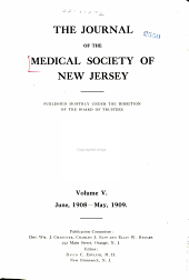 Journal of the Medical Society of New Jersey: Volume 5
