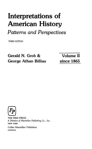 Interpretations of American History PDF