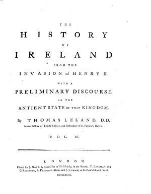 The History Of Ireland From The Invasion of Henry II  PDF