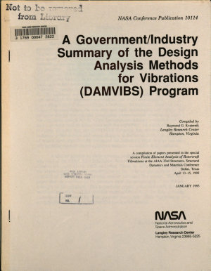 A Government Industry Summary of the Design Analysis Methods for Vibrations  DAMVIBS  Program