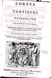 Corpus juris canonici in tres partes distinctum glossis diversorum illustratum Gregorii XIII jussu editum necnon annotationes Antonii Naldi