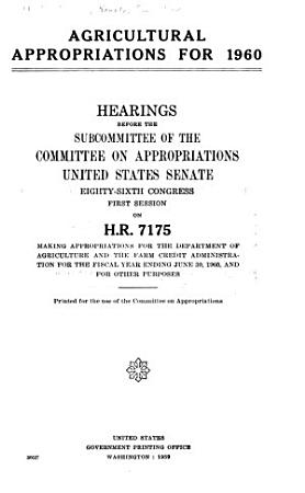 Agricultural Appropriations for     PDF