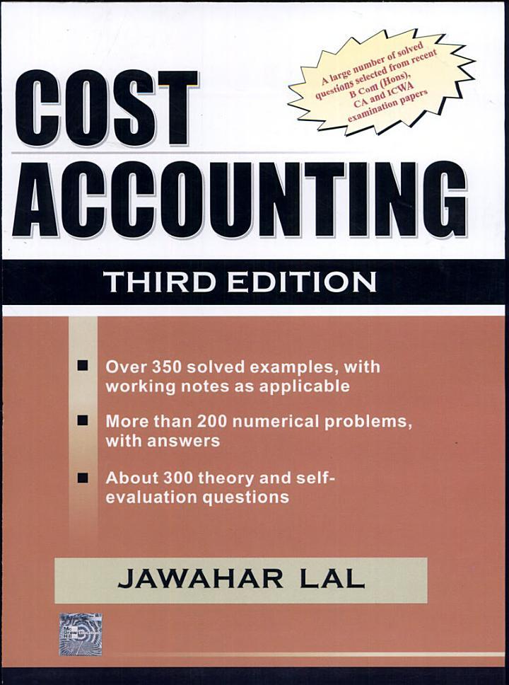 Cost Accounting, 3E