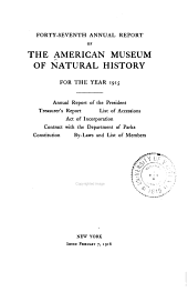 Annual Report of the American Museum of Natural History