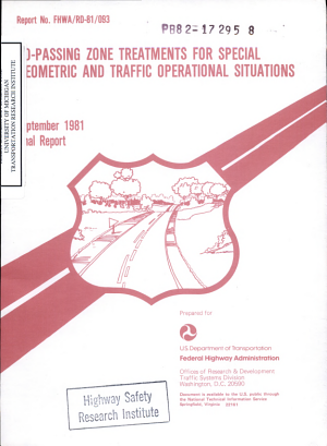No passing Zone Treatments for Special Geometric and Traffic Operational Situations  Final Report PDF