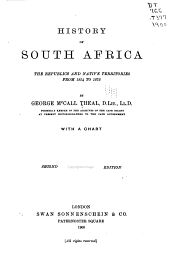 History of South Africa: The Republics and Native Territories from 1854 to 1872, Volume 5