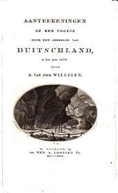Aanteekeningen op een togtje door een gedeelte van Duitschland, in het jaar 1828