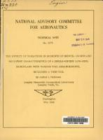 The Effect of Variations in Moments of Inertia on Spin and Recovery Characteristics of a Single engine Low wing Monoplane with Various Tail Arrangements Including a Twin Tail PDF