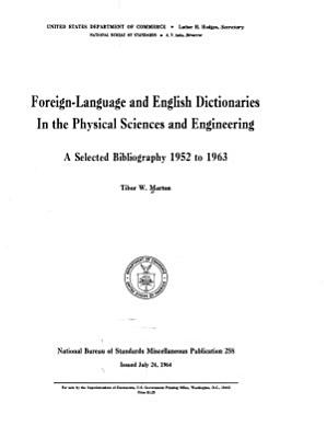 Foreign Language And English Dictionaries In The Physical Sciences And Engineering