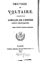 Oeuvres: Annales de l'Empire depuis Charlemagne, Volume26
