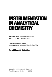 Instrumentation in Analytical Chemistry PDF