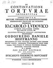 De continuatione torturae interruptae