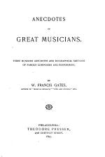 Anecdotes of Great Musicians