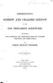 Genenius's Hebrew and Chaldee Lexicon to the Old Testament Scriptures