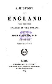 A History of England from the First Invasion by the Romans: 12
