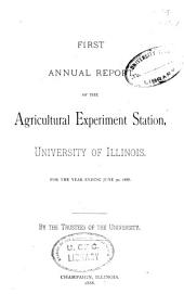 Research Progress at the Illinois Agricultural Experiment Station: Issues 1-34