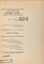 State of New York Supreme Court Appellate Division-Fourth Department