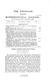 The American Monthly Microscopical Journal: Volume 23