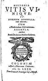 Remberti Dodonaei Historia vitis unique et stirpium non nullarum aliarum ...