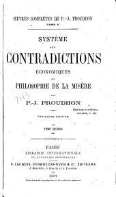 Système des contradictions économiques; ou, Philosophie de la misère: Volume2