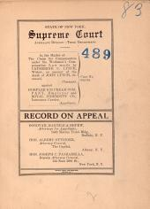 State of New York Supreme Court Appellate Division-Third Department