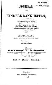 Journal für Kinderkrankheiten: Bände 4-5
