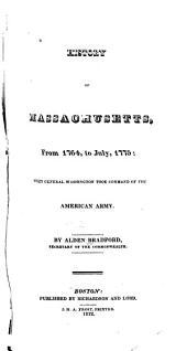 History of Massachusetts ...