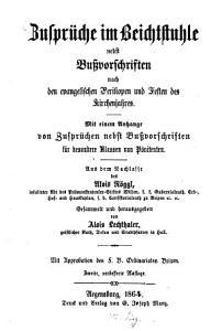 Zuspr  che im Beichtstuhle nebst Bu  vorschriften nach den evangelischen Perikopen und Festen des Kirchenjahres PDF