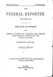 The Federal Reporter: Volume 53