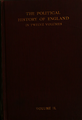 The History of England from the Norman Conques to the Death of John (1066-1216)