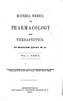 Materia Medica  Or  Pharmacology and Therapeutics PDF