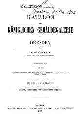 Katalog der Königlichen Gemäldegalerie zu Dresden