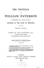 Paterson on the union of 1706. Paterson's public library of trade and finance. Paterson's writings. Paterson and the Bank of England, 1694. Paterson and the national debt, 1701 and 1717. Paterson and the Darien colony, 1686-1700