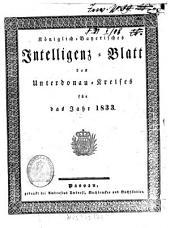 Königlich-Bayerisches Intelligenz-Blatt des Unterdonau-Kreises: 1833