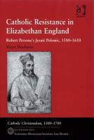 Catholic Resistance in Elizabethan England PDF
