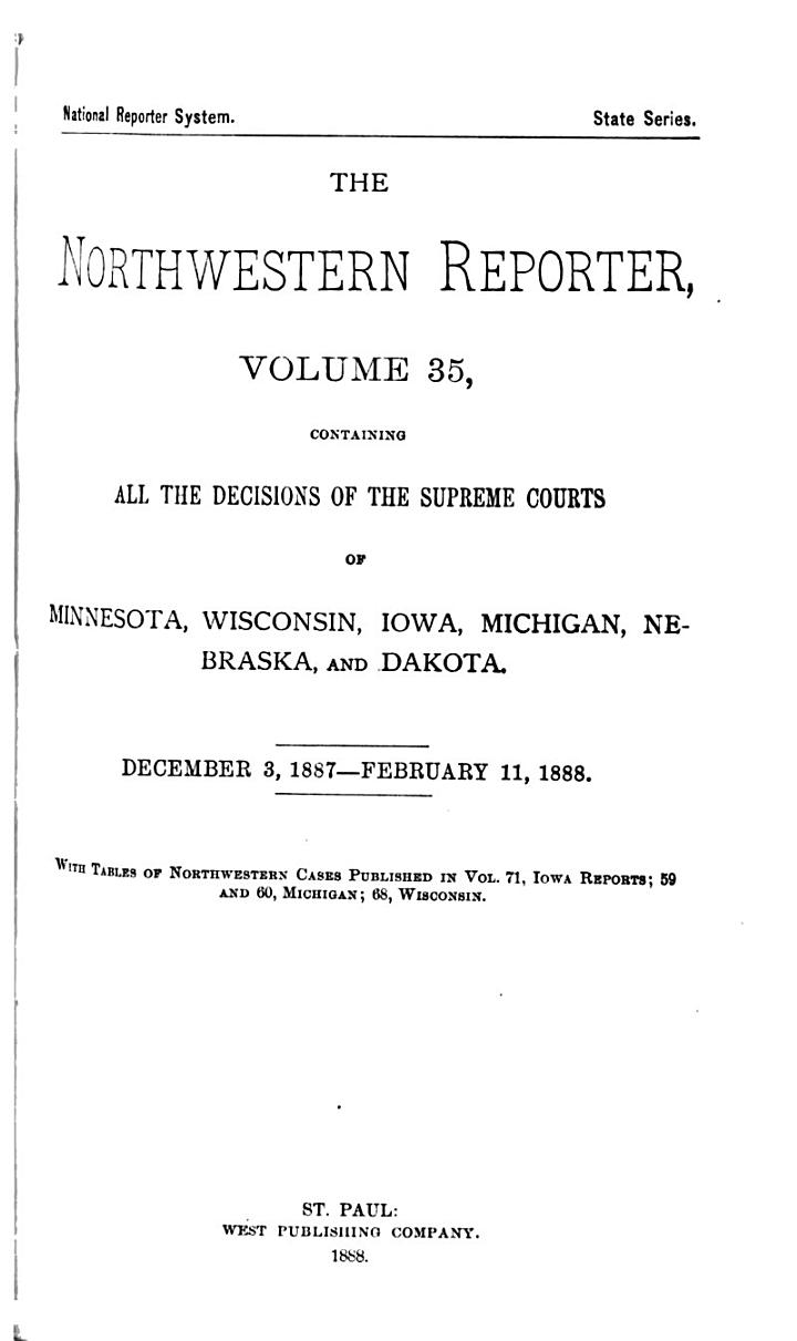 The Northwestern Reporter