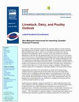 Livestock  Dairy  and Poultry Outlook Aug  28  2003 PDF