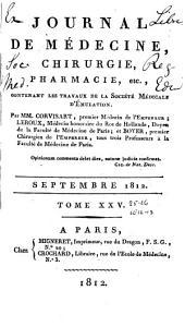 Journal de médecine, chirurgie, pharmacie, etc: Volumes25à26