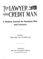 The Lawyer and Credit Man PDF
