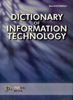 Dictionary of Information Technology PDF