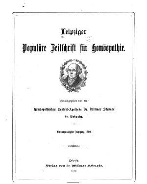 Leipziger popul  re Zeitschrift f  r Hom  opathie PDF
