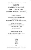 Paulys real encyclop  die der classischen altertumswissenschaft PDF