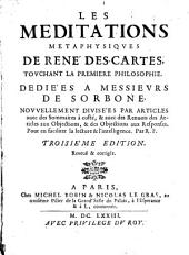 Meditations metaphysiques touchant la première Philosophie